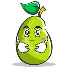 Hugging mango fruit character cartoon