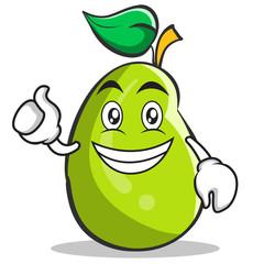 Optimistic mango fruit character cartoon