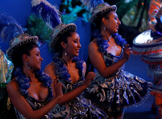 Dancers of Caporal group perform at the closing ceremony of World People Conference in Tiquipaya