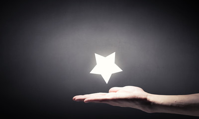 Star in hand