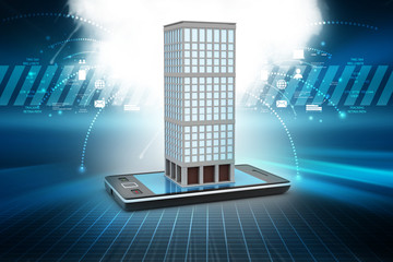 Building with smart phone