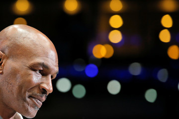 Former boxer Mike Tyson before IBF flyweight title fight