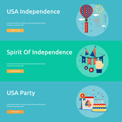 Independence Day of USA Conceptual Banner Design