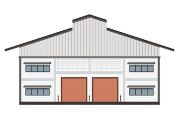 Warehouse transportation in flat style,isolate on whrite background vector illustration