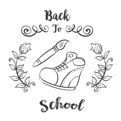 Hand draw back to school
