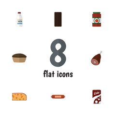 Flat Icon Eating Set Of Meat, Ketchup, Bottle And Other Vector Objects. Also Includes Holland, Sausage, Kielbasa Elements.