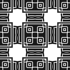 Abstract seamless black and white color pattern for wallpapers and backgrounds. Vector template can be used for design of wallpaper, fabric, oilcloth, textile, wrapping paper and other