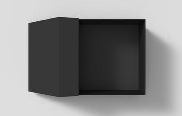 black paper box