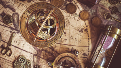 Armillary Sundial Zodiac Spherical Astrology Fototapete