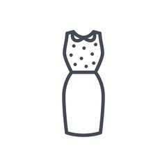 Women Dress Shirt Skirt Line Icon