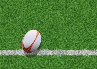 ballon de rugby - rugby - fond - arrière plan - sport - ballon - terrain - ligne