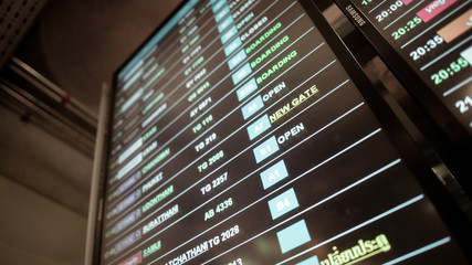 Airport Information Sign