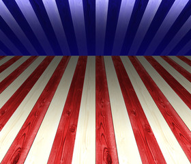 USA white, red, and blue stripes, with geometric line for background, perpective.