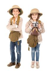 Couple in safari costume