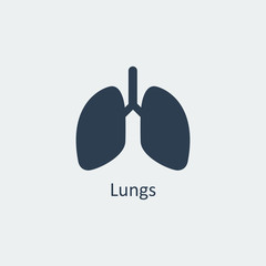 Lungs icon. Vector illustration
