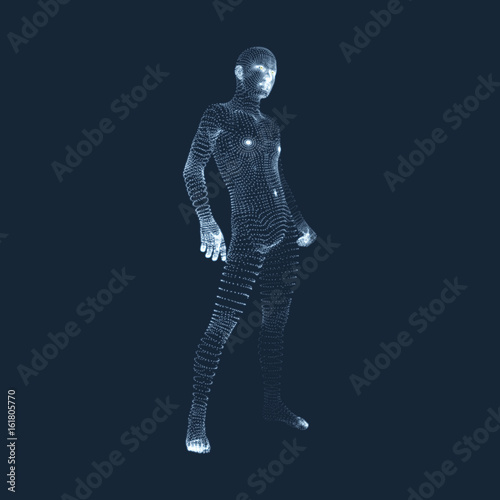 Man Stands on his Feet  3D Model of Man  Human Body Model