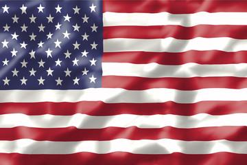 wavy american flag illustration