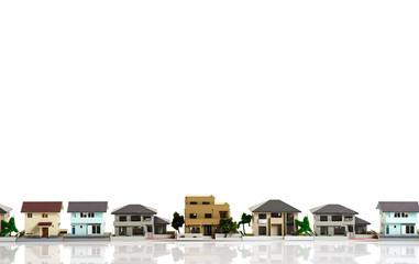 家イメージ 白背景