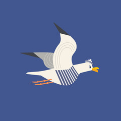 Cute seagull icon