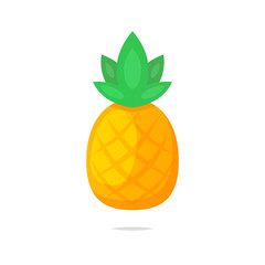 Pineapple vector isolated illustration