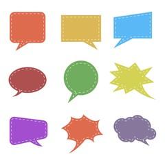 Colorful Bubble Speech Set Icon