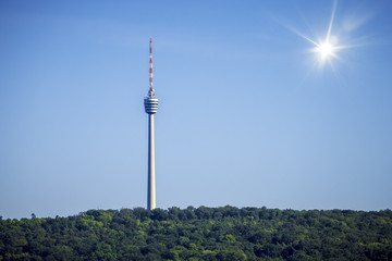 television radio tower in Stutgart Germany