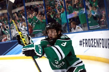 NCAA Hockey: Frozen Four-Quinnipiac vs North Dakota
