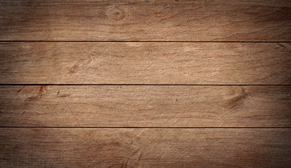 Brown wood texture with natural pattern. Wooden planks background