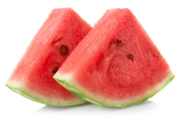 watermelon's pieces isolated on white background