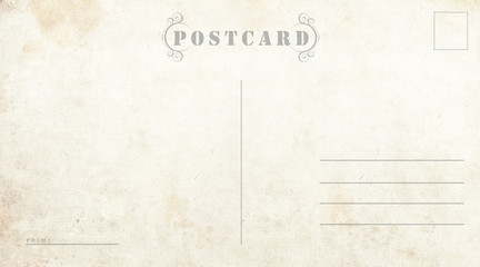 Postcard template. Ready to use postal card.
