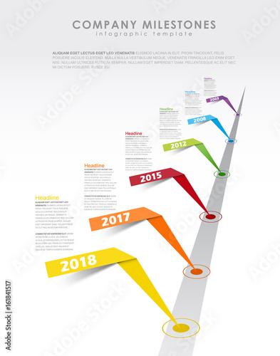 Infographic startup milestones timeline vector template stock infographic startup milestones timeline vector template maxwellsz