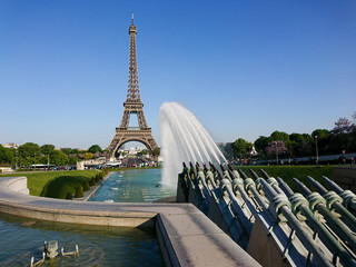 Views of the Eiffel Tower from Trocadero