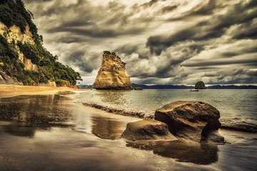 Poster Cathedral Cove Sphinx Rock, Cathedral Cove, New Zealand