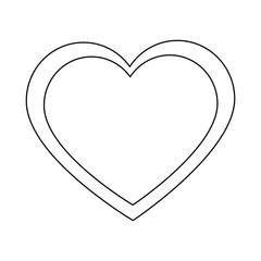 cute big heart icon vector illustration graphic design