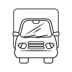 isolated merchandise truck icon vector illustration graphic design