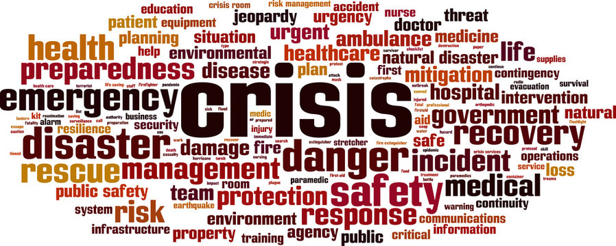 Crisis word cloud