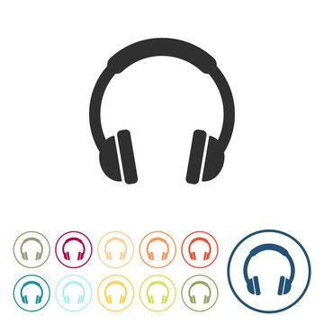 Runde Schaltflächen - Kopfhörer