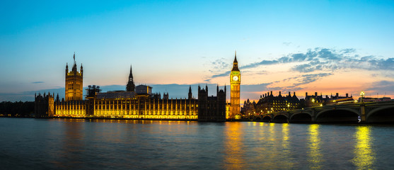 Big Ben, Parliament, Westminster bridge in London