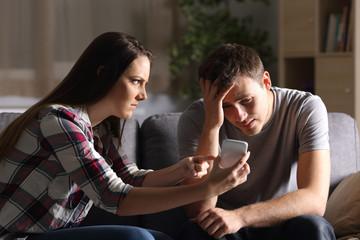 Girl asking for explanation of her cheater boyfriend