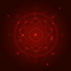 Alchemy Geometry Symbol Thin Line. Vector