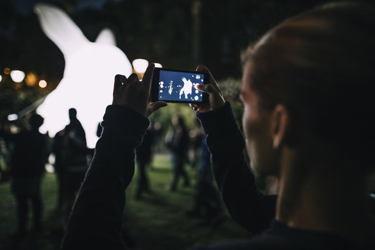 Taking Photos Of White Night