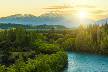 Sunrise over Clutha river