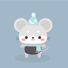 Cute mouse cartoon.