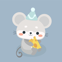 Cute mouse cartoon.