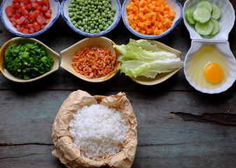 food material for fried rice