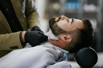 Attractive man at barbershop