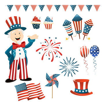 Collection of 4th Of July Elements