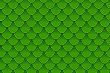 Seamless pattern of colorful green fish scales. Fish scales, dragon skin, Japanese carp, dinosaur skin, pimples, reptile, snake skin, shingles.