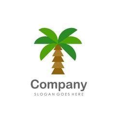 Coconut tree flat design vector