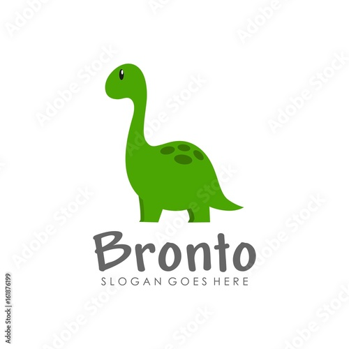 quotcute dinosaur logo design vectorquot stock image and royalty